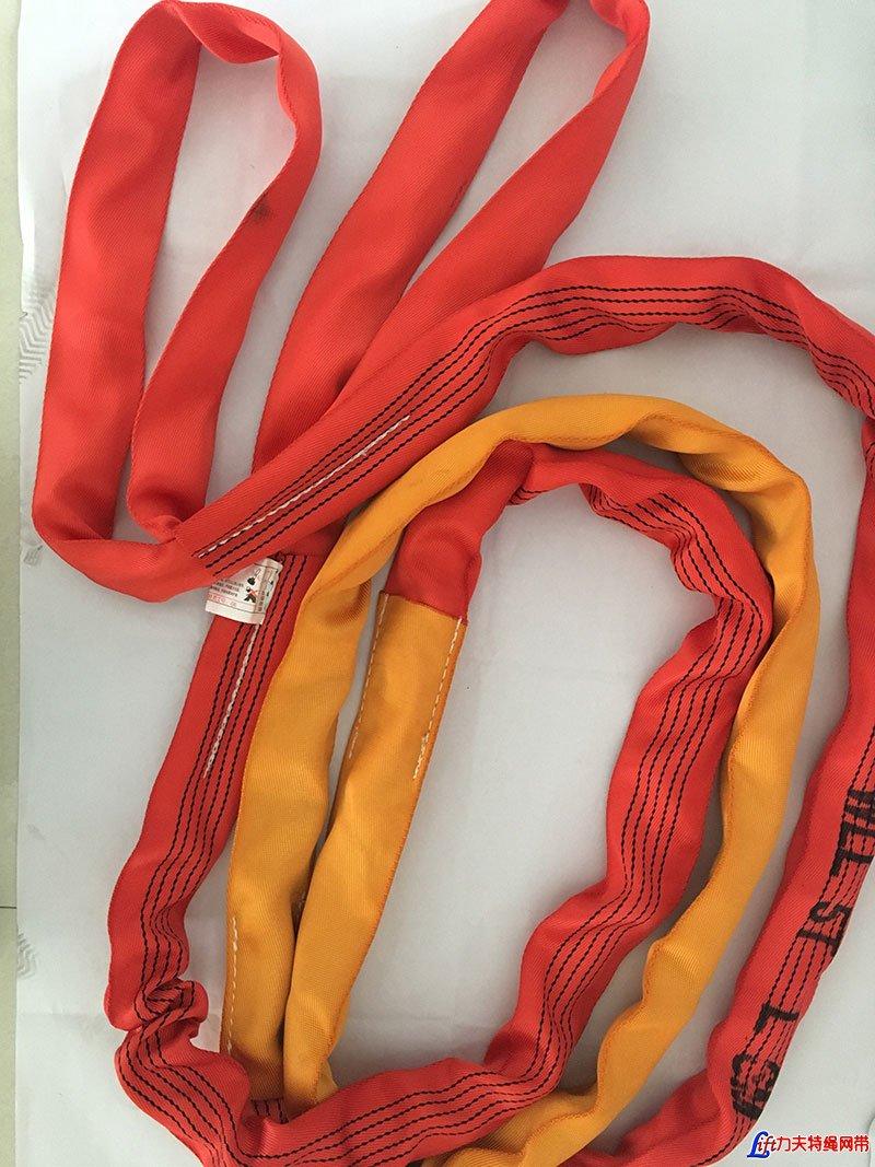 两头扣柔性吊带加护套_两头扣形柔性吊装带_双层护套圆形吊装带_加保